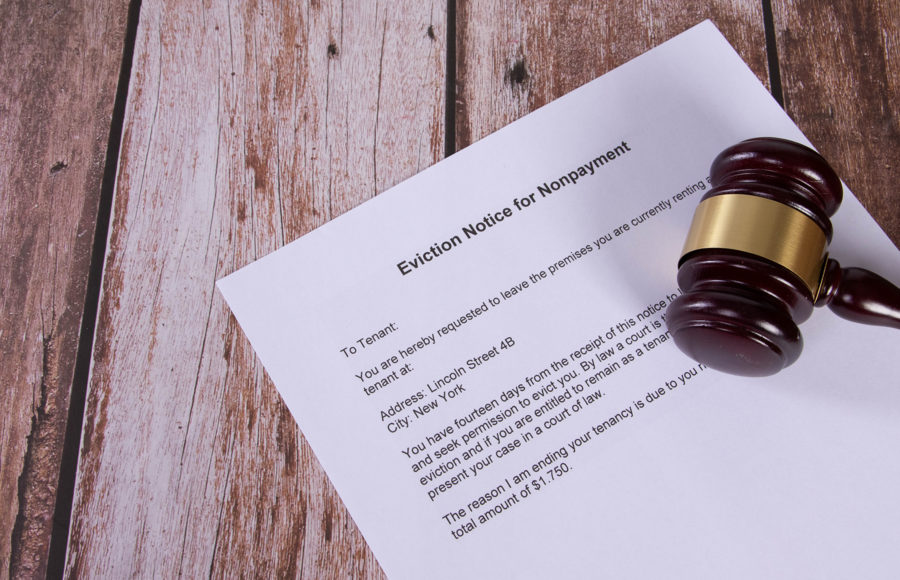 photo of an eviction letter