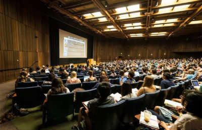 photo of a full lecture hall