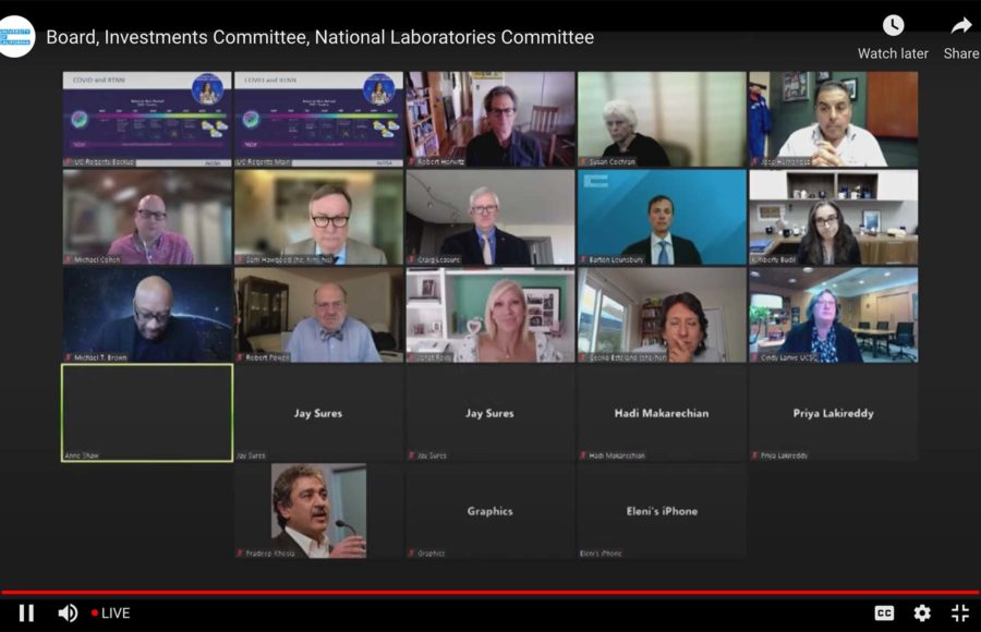 Zoom screenshot from the UC Regents National Laboratories