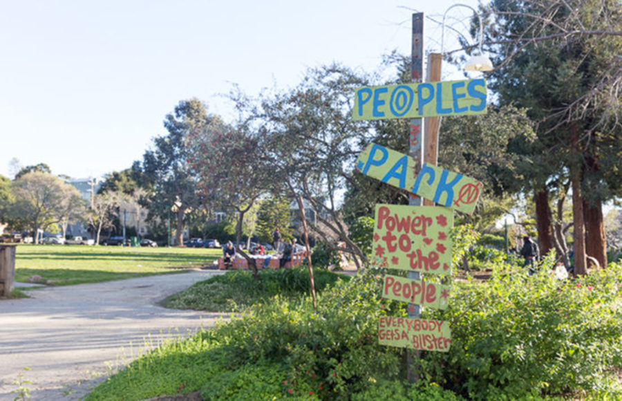 photo of People's Park sign