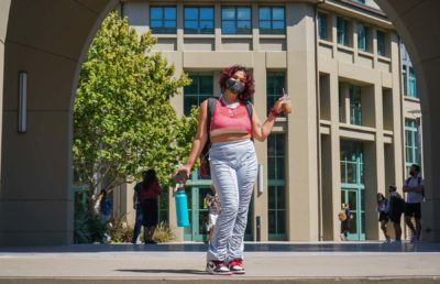 Photo of Cal Student on campus