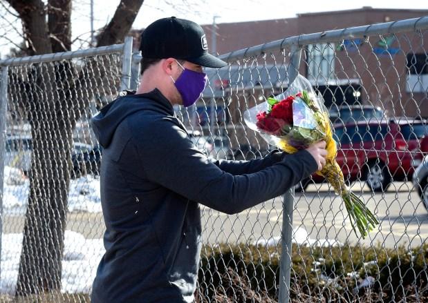 Kiefer Johnson leaves flowers in the ...