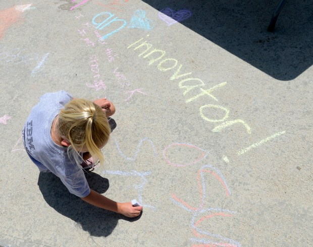 Rylee Wilkey writes a message to ...