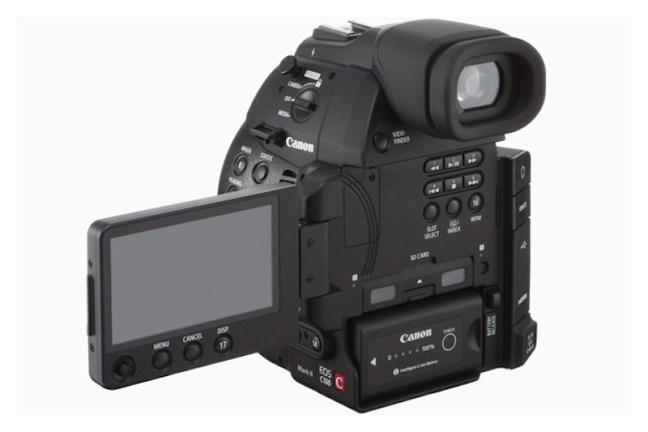 Canon EOS C100 Mark II Cinema Camera Back