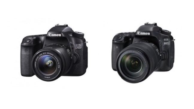 Canon EOS 80D vs EOS 70D Comparison