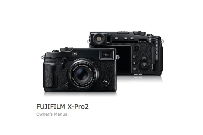 Fujifilm X-Pro2 User's Manual