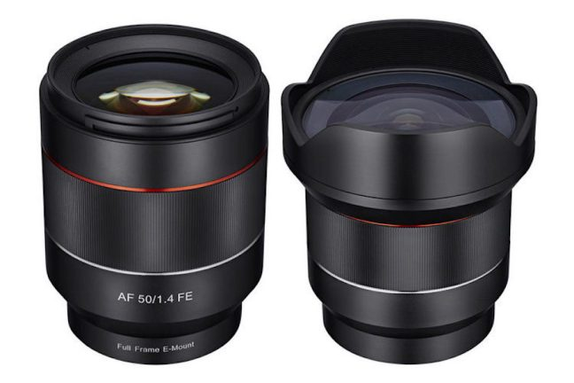 Samyang 14mm f/2.8 and 50mm f/1.4 lenses announced with AF support
