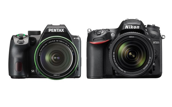 Pentax K-70 vs Nikon D7200 Comparison