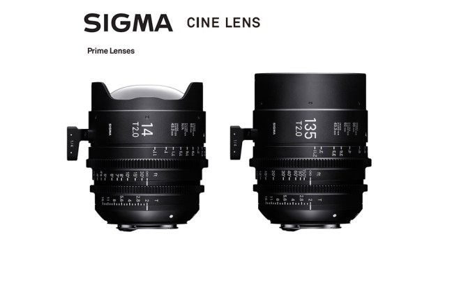 Sigma Unveils 14mm T2 and 135mm T2 Cine Prime lenses