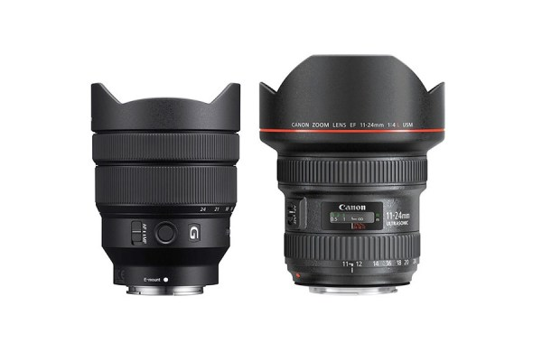 Sony FE 12-24mm f/4 G vs Canon EF 11-24mm f/4L - Comparison