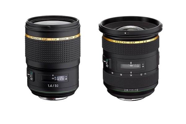HD-Pentax-D FA* 50mm F1.4 SDM AW and HD-Pentax-DA* 11-18mm F2.8 Announced