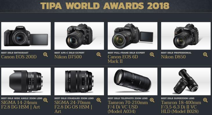 TIPA World Awards 2018 Winners List