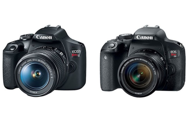 Specifications Comparison of Canon Rebel T7 vs Canon T6 vs Canon T100 Cameras