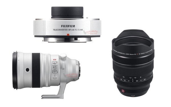 Fuji XF 200mm f/2 R LM OIS WR, XF 8-16mm f/2.8 R LM WR Lens Specs & Images