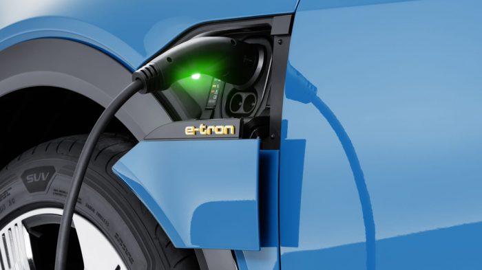 Audi e-Tron, re-charge point, dailycarblog.com