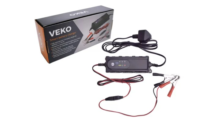 Veko Smart Battery Charger, Range Rover Sport, charging, press image dailycarblog.com