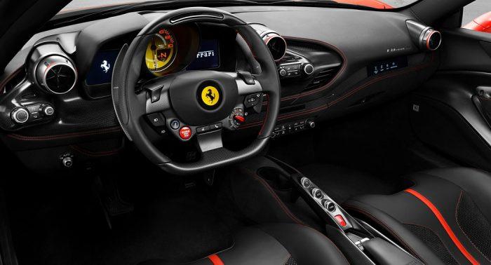 Ferrari F8 Tributo interior Dailycarblog.com