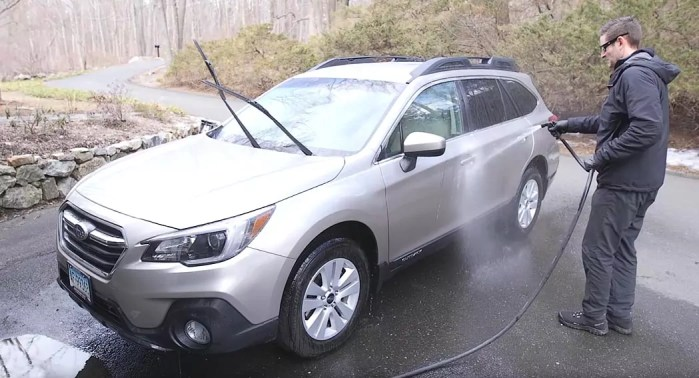 No chemicals car cleaning
