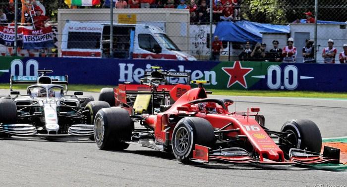 2019 Italian Grand Prix Ham vs Lec dailycarblog.com