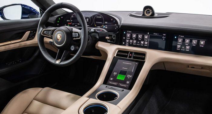 Taycan EV interior dailycarblog.com