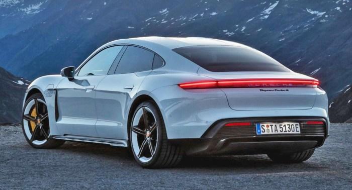 Porsche Taycan EV rear dailycarblog