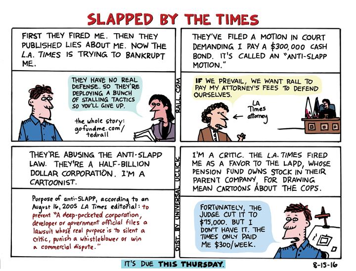 Ted Rall Petition Backed by CBLDF, AAEC, CRNI The Daily