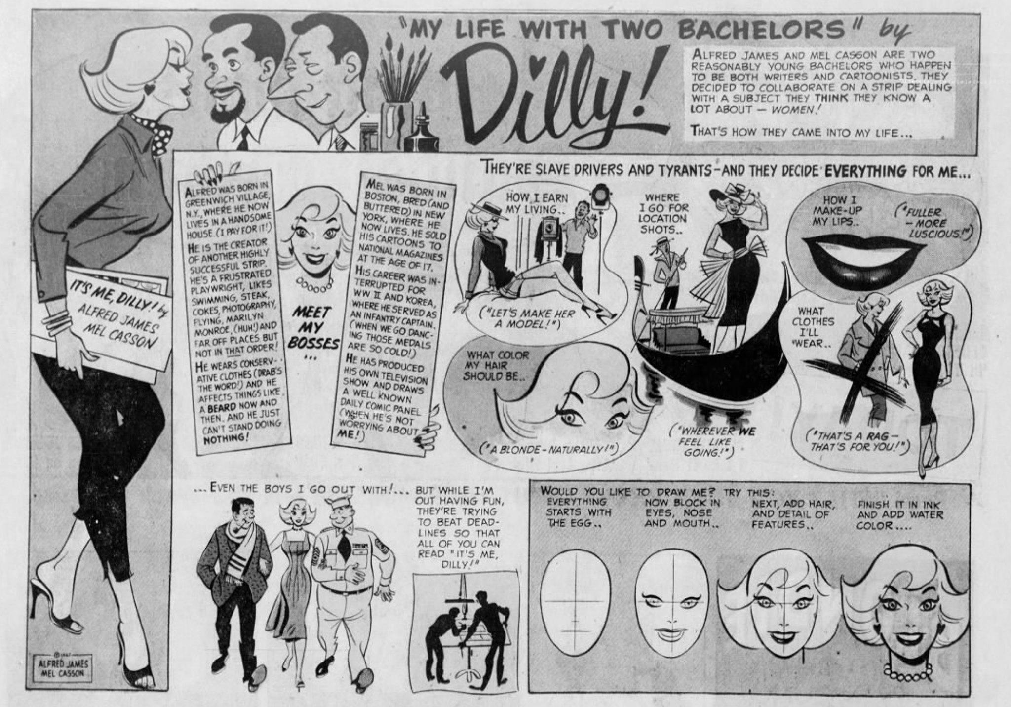 1957 Newspaper Comics and Creators Self-Profiles The Daily