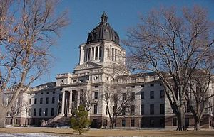 South Dakota State Capitol, in Hughes County