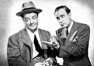 Abbott (right) and Costello, 1942 (Photo credit: Wikipedia)