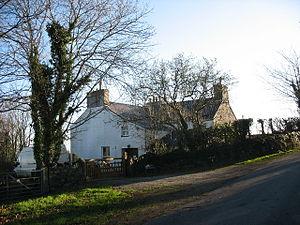 English: Gellidara Farmhouse In the 19th C, Ge...