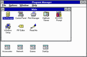 Windows 3.1 Program Manager - Image via Wikipedia