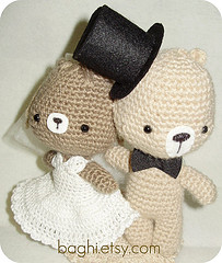 Alessia e Dario, amigurumi wedding couple