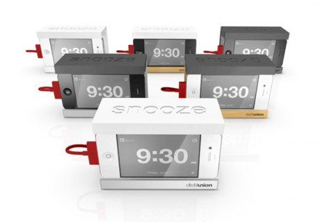 The iPhone Alarm Dock with a Big Snooze Bar
