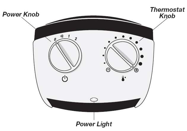 A cheep Lasko Heater with Adjustable Thermostat