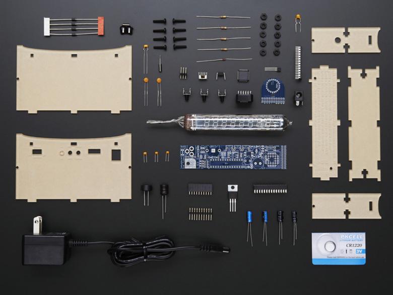 Ice Tube Clock Kit Components