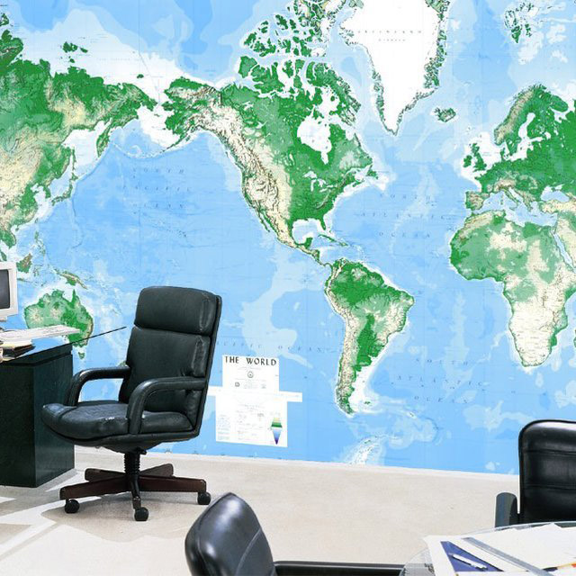 World's Largest World Map Mural