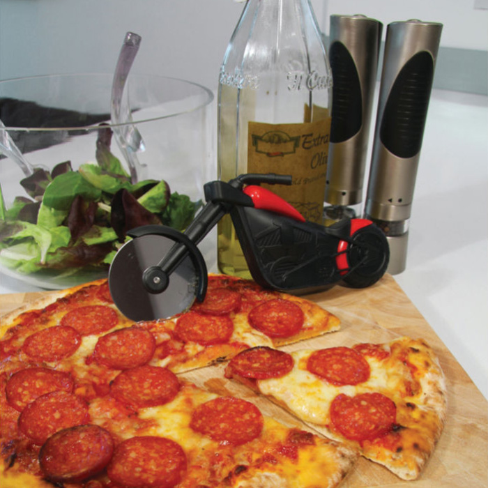Chopper Motorbike Motorcycle Pizza Cutter