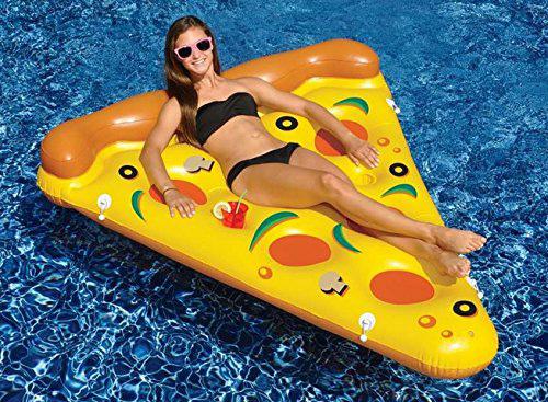 Inflatable Pizza Slice Pool Lounge