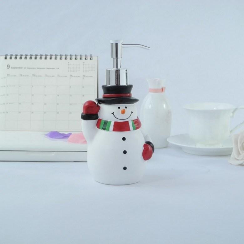 Christmas Snowman Soap Dispenser