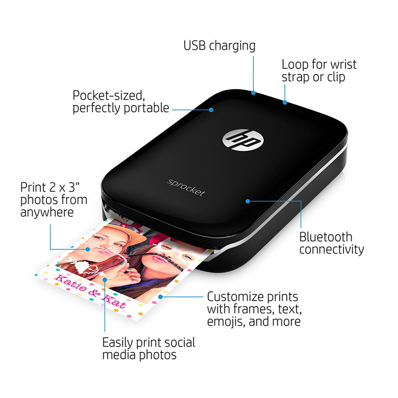 HP Sprocket Portable Photo Printer Details