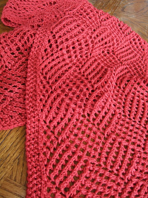 Free Pattern Absolutely Stunning Lace Knit Reversible