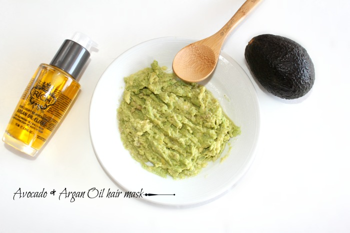 avocado and Argan oil  hair mask