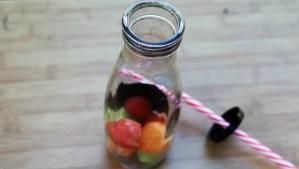 Melon ice cubes |Bolitas de hielo de Melon