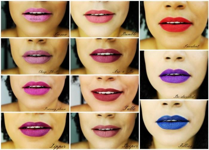 ColourPop ultra matte Lip swatches