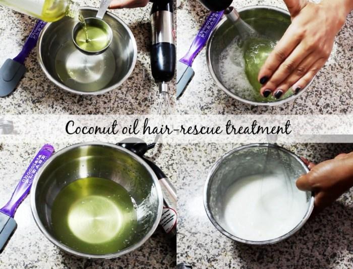 coconut oil hair rescue treatment