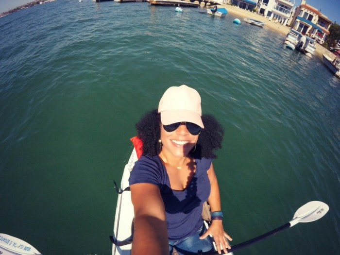 kayaking around balboa island