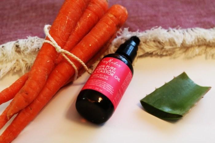 Jugo de zanahoria y aceite de ricino para el cabello