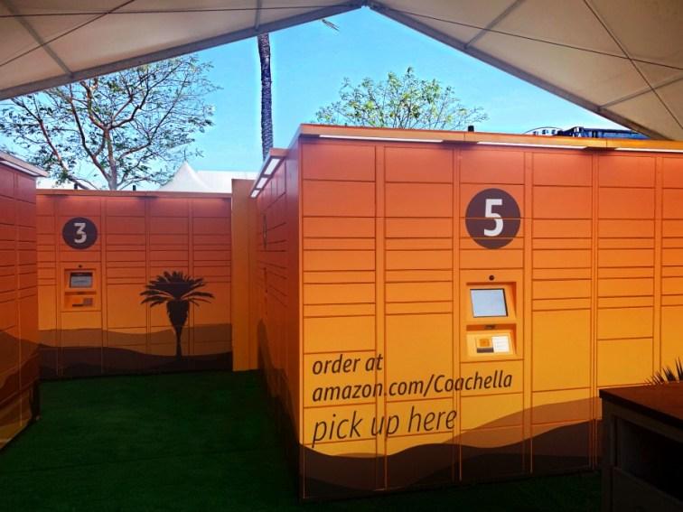 Amazon llevo los Lockers al festival de Coachella y fue increible