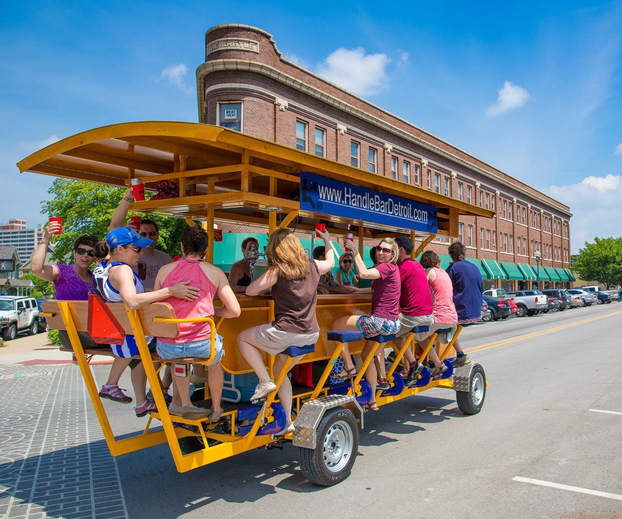 Resultado de imagem para bike bar detroit