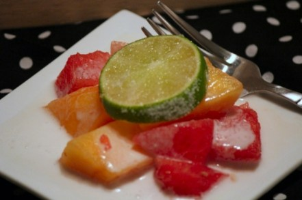 Watermelon Mango Salad with Coconut Lime Dressing